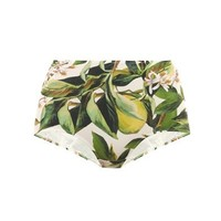 Lemon blossom high-waisted bikini briefs