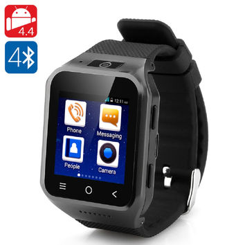 ZGPAX S8 Android 4.4 Watch Phone - Dual Core CPU, 1.54 Inch Display, 512MB RAM, 4GB Internal Memory, 2 Megapixel Camera