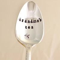 Grandma's tea, teaspoon-silver plated, Mother's day gift, gift for grandma.