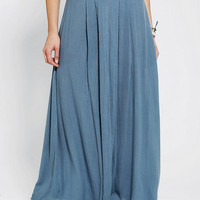 Urban Outfitters - Ecote Embroidered-Waist Maxi Skirt