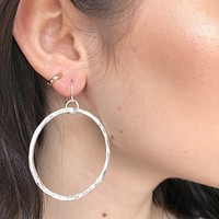 Everyday Silver Hoop Earrings