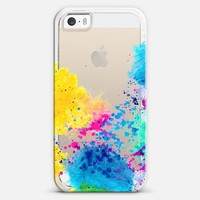 Blue Yellow Abstract Watercolor Neon Pink Splatter| | Design your own iPhonecase and Samsungcase using Instagram photos at Casetagram.com