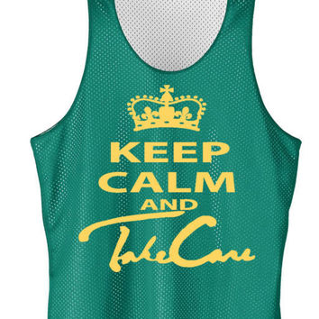 Keep calm and take care mesh jersey