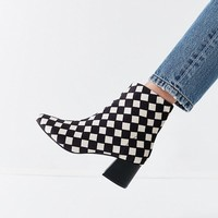 Mel Velvet Checkerboard Ankle Boot | Urban Outfitters