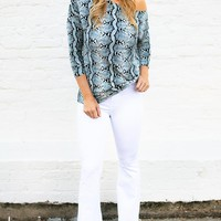 Truth or Flare High Waist White Flare Jeans