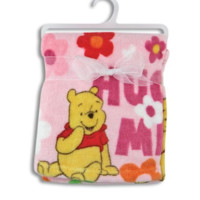 Winnie the Pooh Blue Fleece Blanket. Nursery Decor Cuddle Me Baby Blanket.