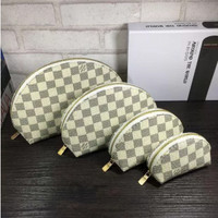 LV Louis Vuitton four-piece cosmetic bag accessories travel storage cosmetic bag .