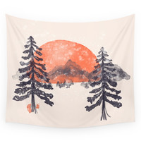Society6 First Snow... Wall Tapestry