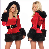 Hot Sexy Adult Women Red Devil Girl Christmas Costume Halloween Pajamas Fashion Outfit Dress Sexy Costumes