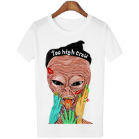 Women's Smoking High Alien Friends T-shirt