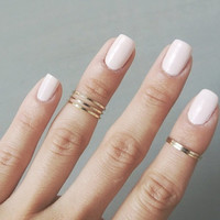 Fashion New 5PCS/Set Rings Urban golden Stack Plain Cute Above Knuckle Ring Band Midi Ring = 1645784004