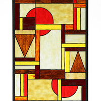 Arts and Crafts Sonoma Stained Glass Panel