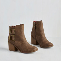 Urbanite on the Town Bootie in Chestnut by Rocket Dog from ModCloth