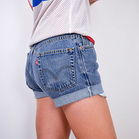 Vintage Levi High Waisted Denim Shorts
