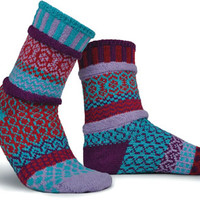 Adult Smal Nebula Socks from Solmate Socks, Knitted Socks, Patterned Socks, Mismatched Socks, Socks for Women, Mens Socks | Toad Hollow