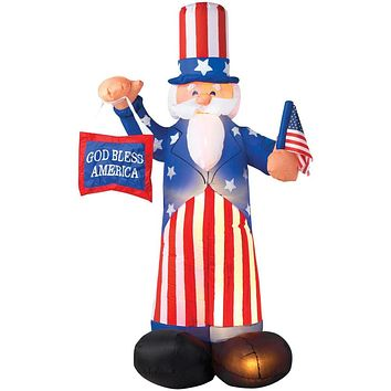 Airblown 6' Uncle Sam Yard Decoration