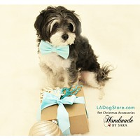 Blue Dog Bow Tie collar- Pet accessory, something blue