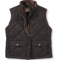 Women's Waxed Cotton Down Vest: Vests   Free Shipping at L.L.Bean