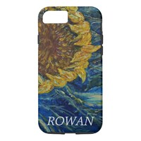 Sunflower Blown Blue Art iPhone Case