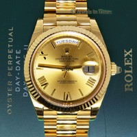 Rolex Day-Date President 40mm 18k Yellow Gold Watch Box/Papers 228238 BRAND NEW