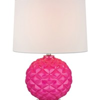 HGTV HOME Energy Hot Pink Glass Accent with Polished Nickel Table Lamp | www.hayneedle.com