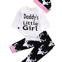 Girls Deer Romper 3PC Set