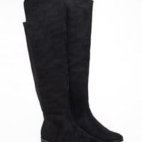 Knee-High Faux Suede Boots