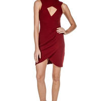 Tulip Knit Overlapping Dress - FINAL SALE