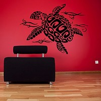 Wall Decal Vinyl Sticker Decals Art Home Decor Murals Turtle Tortoise Tortoiseshell Water Sea Animal Swim Fashion Bathroom Bedroom Dorm Decals AN69