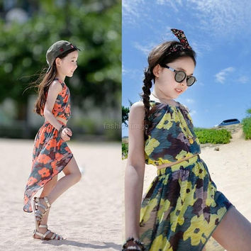 Arshiner Baby Girls Kids Summer Dress Tank Tops+ Skirt Casual Clothes 2pcs Sets Outfits F_F