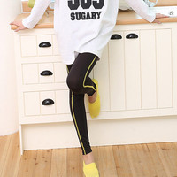 neon yellow or electric blue side stich active wear yoga and exercise active wear leggings - freesized for XS/S