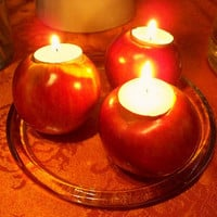 How to make apple candle holders - Columbus Interior Improvement | Examiner.com