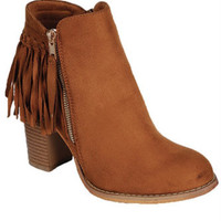 Wild West Ankle Booties - Camel