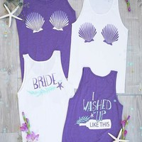I Washed Up Like This Mermaid Tank Tops