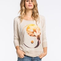 Full Tilt Daisy Yin Yang Womens Sweatshirt Oat  In Sizes
