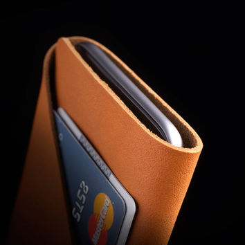 Leather Wallet Sleeve for iPhone 6S