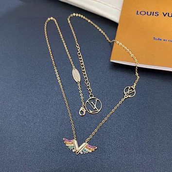 Louis Vuitton LV Women Fashion Diamonds Necklace Jewelry