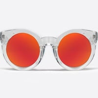 Quay Sunday Girl Clear / Pink Sunglasses