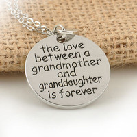 THE LOVE BETWEEN GRANDMA AND GRANDDAUGHTER