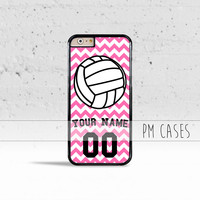 Personalized VolleyBall Case Cover for Apple iPhone 4 4s 5 5s 5c 6 6s SE Plus & iPod Touch