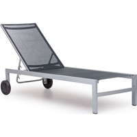 Modern Patio Furniture Castle Peak Collection Lounge Black & Silver
