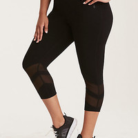 Torrid Active - Mesh Inset Cropped Leggings