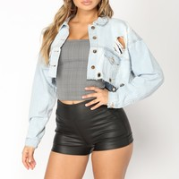 Give You What You Need Denim Jacket - Light Wash