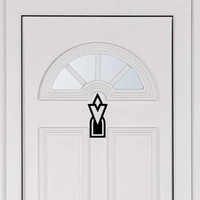 The Skyrim Elder Scroll Quest Target Door Vinyl Decal for your car or laptop.