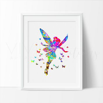 Tinker Bell 3 Watercolor Art Print