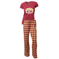 Washington Redskins Pajama Pants and V - Neck Top Set