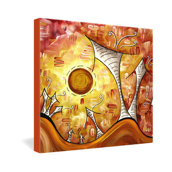Madart Inc. Flushed With Joy Gallery Wrapped Canvas