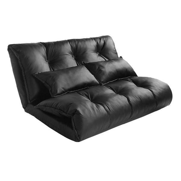 Image of Vegan Leather Lazy Sofa Bed by Merax