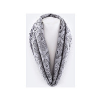 Gray Lace Infinity Scarf