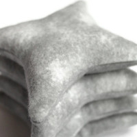 Star Shaped Bean Bags Gray Flannel Classic Child's Toss Toy Party Favors (set of 4) - US Shipping Included